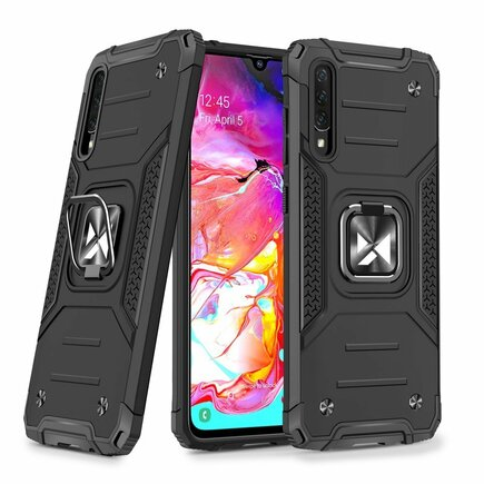 Wozinsky Ring Armor pancéřové hybridní pouzdro + magnetický úchyt Samsung Galaxy A70 černé