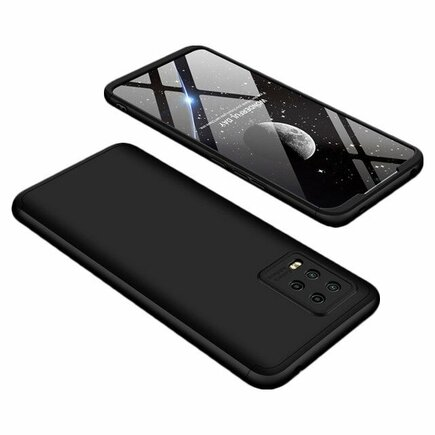 360 Protection Case pouzdro na přední i zadní část telefonu Xiaomi Mi Note 10 Lite černé