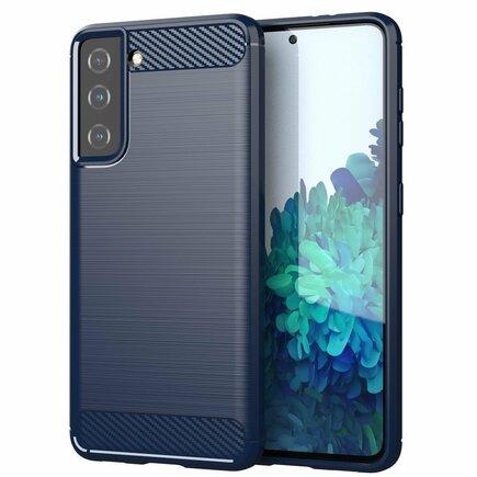 Carbon Case elastické pouzdro Samsung Galaxy S21 5G modré