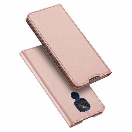 DUX DUCIS Skin Pro flipové pouzdro Motorola Moto G9 Play / Moto E7 Plus růžové