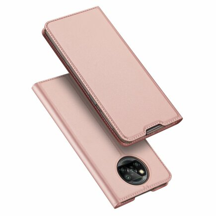DUX DUCIS Skin Pro pouzdro s klapkou Xiaomi Poco X3 NFC růžové