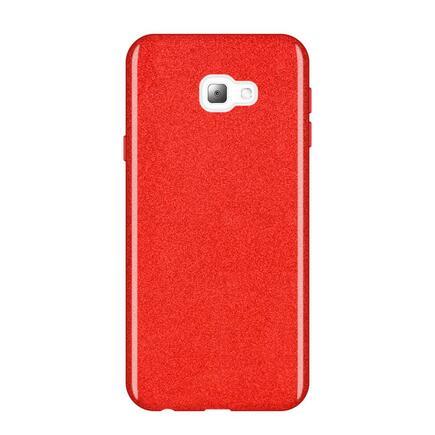 Glitter Case lesklé pouzdro s brokátem Samsung Galaxy J4 Plus 2018 J415 červené