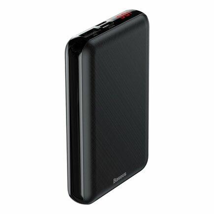 Mini S Digital Display kompaktní power banka 10000 mAh USB + USB-C + Lightning černá (PPALL-XF01)