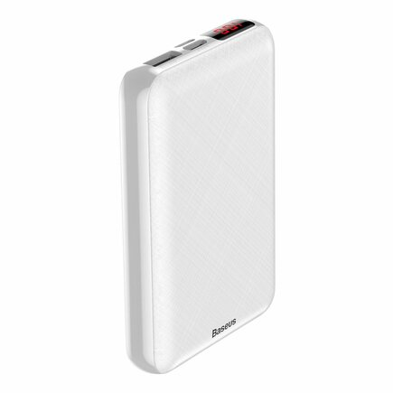 Mini S Digital Display kompaktní power banka 10000 mAh USB + USB-C + Lightning bílá (PPALL-XF02)