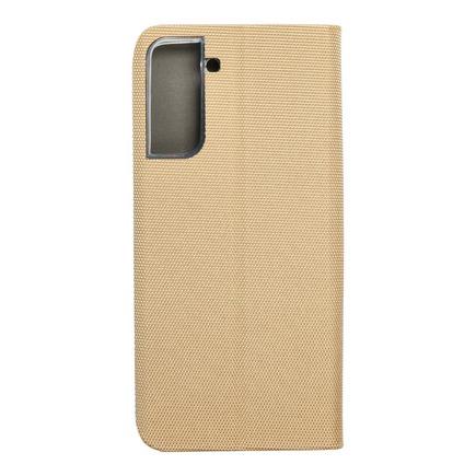 Pouzdro SENSITIVE Book pro Samsung S21 Plus zlaté