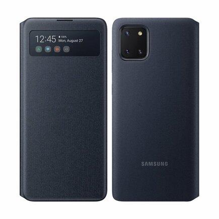S View Wallet pouzdro bookcase s inteligentní klapkou Samsung Galaxy Note 10 Lite černé (EF-EN770PBEGEU)