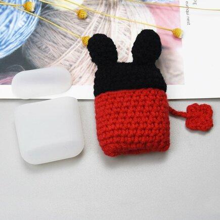 Silikonové pouzdro pro sluchátka AirPods 2gen / 1gen s vlněnou myškou