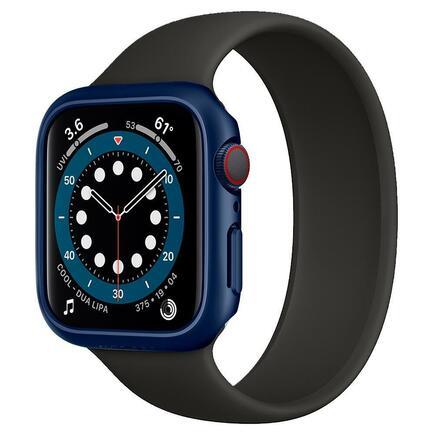 Spigen Pouzdro Thin Fit Apple Watch 4 / 5 / 6 / SE (44MM) metalicky modré