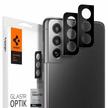 Spigen tvrzené sklo Optik.Tr Camera Lens Galaxy S21+ Plus černé