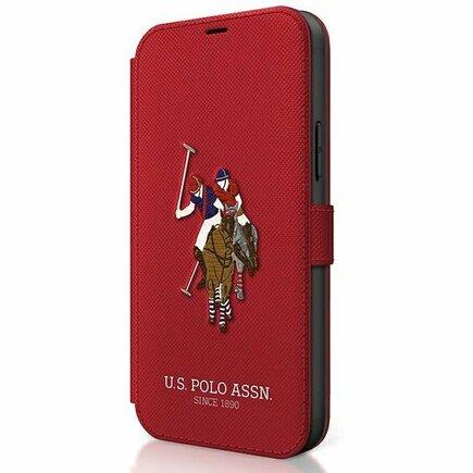 US Polo Pouzdro iPhone 12 / 12 Pro červené book Polo Embroidery Collection