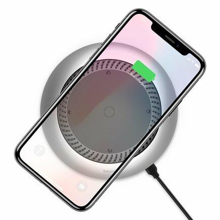 Whirlwind Wireless Charger bezdrátová nabíječka Qi s ventilátorem (CCALL-XU0S) stříbrná