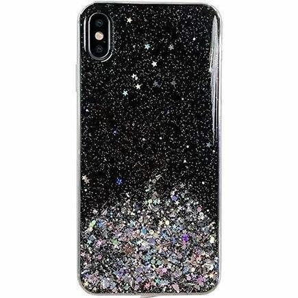 Wozinsky Star Glitter lesklé pouzdro s brokátem Xiaomi Poco X3 NFC černé