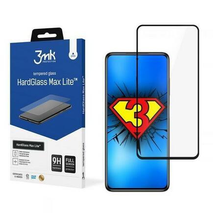 3MK HG Max Lite tvrzené sklo Xiaomi Poco X3 černé/black