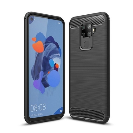 Carbon Case elastické pouzdro Huawei Mate 30 Lite černé