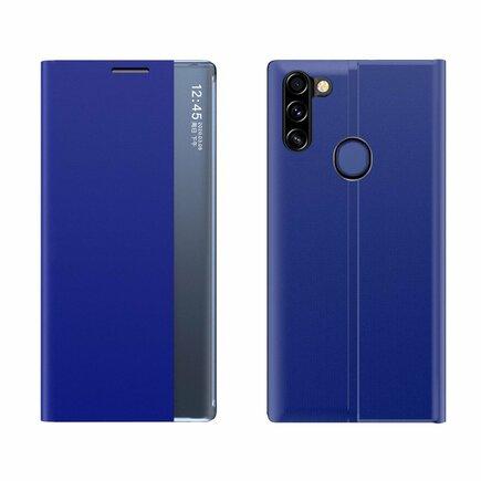 New Sleep Case pouzdro s klapkou s funkcí podstavce Samsung Galaxy A11 / M11 modré