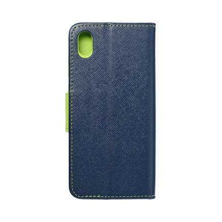 Pouzdro Fancy Book Huawei Y5 2019 tmavě modré/limetkové