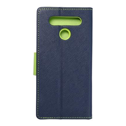 Pouzdro Fancy Book LG K41s tmavě modré/limetkové