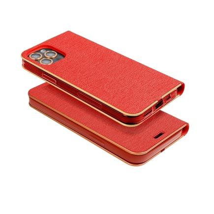Pouzdro Forcell Luna Book Gold iPhone 13 Mini červené