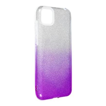 Pouzdro Shining Huawei Y5P průsvitné/fialové