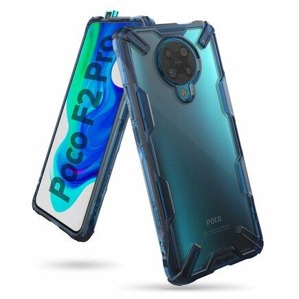 Ringke Fusion X pancéřové pouzdro s rámečkem Xiaomi Redmi K30 Pro / Poco F2 Pro modré (FXXI0023