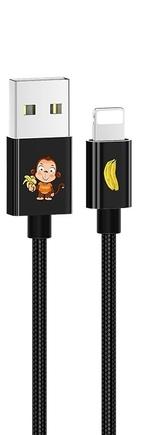 SJ234 U8 Lovely Lightning Datový Kabel černý (EU Blister)