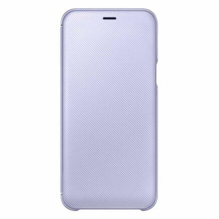Wallet Cover pouzdro bookcase s kapsičkou na kartu Samsung Galaxy A6 2018 fialové (EF-WA600CVEG)