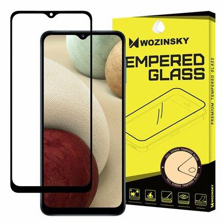 Wozinsky super odolné tvrzené sklo Full Glue na celý displej s rámem Case Friendly Samsung Galaxy A12 černé