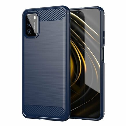 Carbon Case elastické pouzdro Xiaomi Poco M3 / Xiaomi Redmi 9T modré