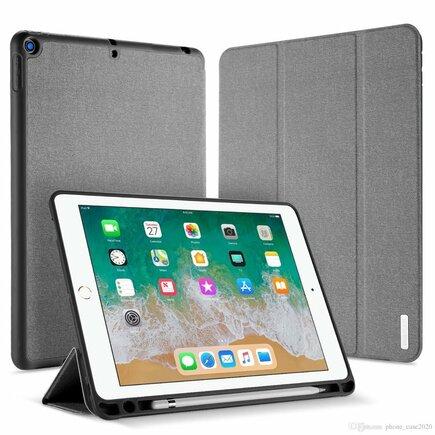 Domo skládané pouzdro na tablet s funkcí Smart Sleep podstavec + kapsička pro dotykové pero Apple iPad 9.7 2018 / 9.7 2017 šedé