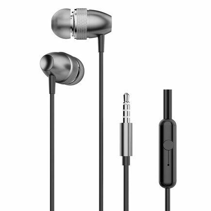 Dudao drátová sluchátka s konektorem 3,5 mm mini jack šedá (X2Pro gray)