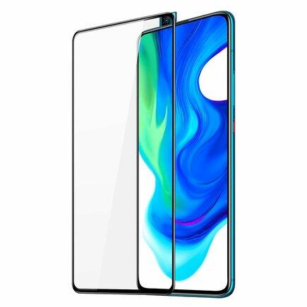 Dux Ducis 9D Tempered Glass odolné tvrzené sklo 9H na celý displej s rámem Xiaomi Redmi K30 Pro / Poco F2 Pro černé (case friendly)