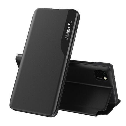 Eco Leather View Case elegantní pouzdro s klapkou a funkcí podstavce Huawei Y6p černé