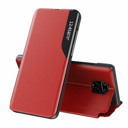 Eco Leather View Case elegantní pouzdro s klapkou a funkcí podstavce Xiaomi Redmi Note 9 Pro / Redmi Note 9S červené