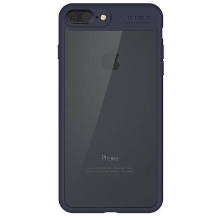 Frame elastické gelové pouzdro s rámem iPhone 8 Plus / 7 Plus modré