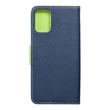 Pouzdro Fancy Book LG K62 tmavě modré/limetkové