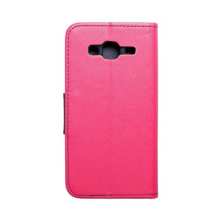 Pouzdro Fancy Book Samsung Galaxy J3/J3 2016 růžové/tmavě modré