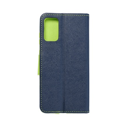 Pouzdro Fancy Book Samsung S20 Plus / S11 tmavě modré/limetkové