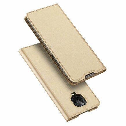 Skin Pro pouzdro s klapkou Xiaomi Redmi Note 9 Pro / Redmi Note 9S zlaté