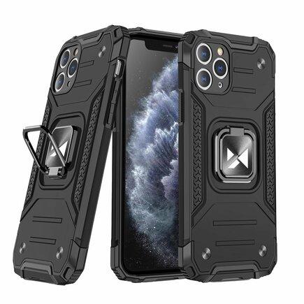 Wozinsky Ring Armor pancéřové hybridní pouzdro + magnetický úchyt iPhone 11 Pro černé