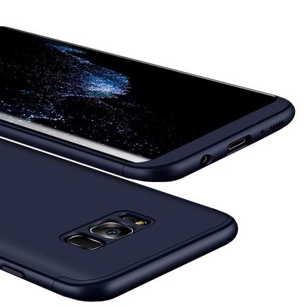 360 Protection pouzdro na přední i zadní část telefonu Samsung Galaxy S8 Plus G955 modré