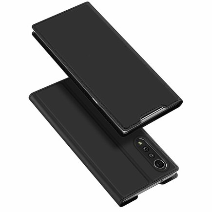 DUX DUCIS Skin Pro pouzdro s klapkou LG Velvet černé