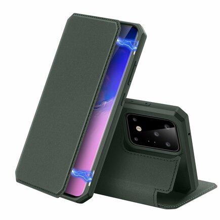 DUX DUCIS Skin X pouzdro s klapkou Samsung Galaxy S20 Ultra zelené