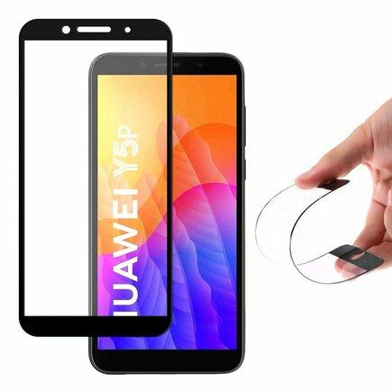 Full Cover Flexi Nano skleněná fólie s rámem Huawei Y6p černá