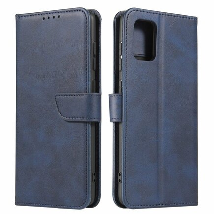 Magnet Case elegantní pouzdro s klapkou a funkcí podstavce Samsung Galaxy A71 5G modré