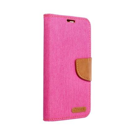 Pouzdro Canvas Book iPhone 13 Pro růžové