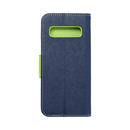 Pouzdro Fancy Book Samsung A42 5G tmavě modré/limetkové