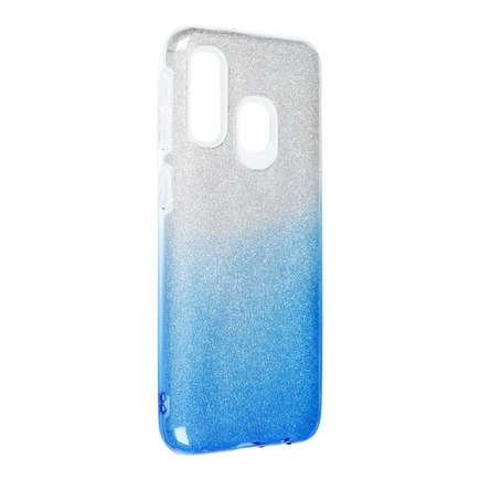 Pouzdro Shining Samsung Galaxy A40 průsvitné/modré