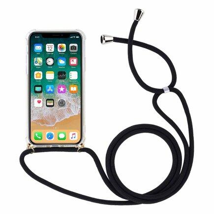 Rope case gelové pouzdro s řemínkem iPhone SE / iPhone 5S / iPhone 5 průsvitné