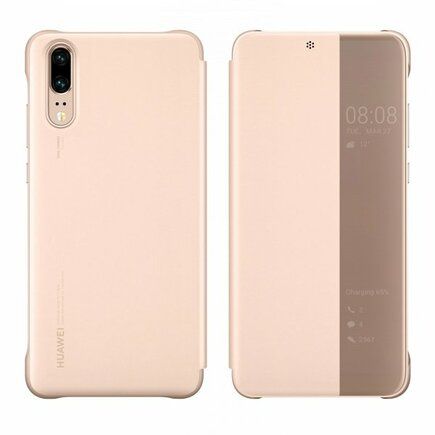 Smart View Flip Cover pouzdro s klapkou typu Smart Huawei P20 růžové (51992357)