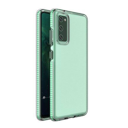 Spring Case gelové pouzdro s barevným rámem Xiaomi Redmi K40 Pro+ / K40 Pro / K40 / Poco F3 / Mi 11i mátově zelené